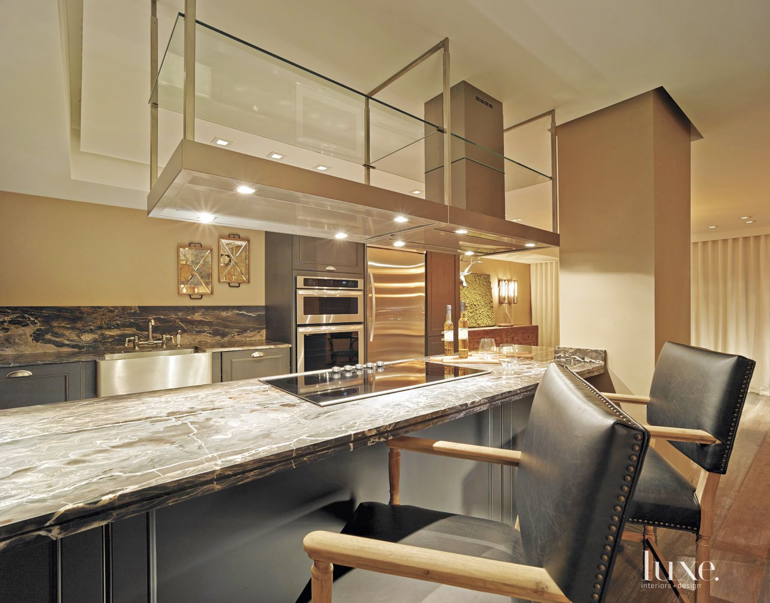 Eclectic Neutral Kitchen with Open Plan