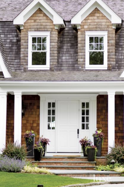 Home Front Door Elevation : Traditional front elevation with dormers luxe interiors