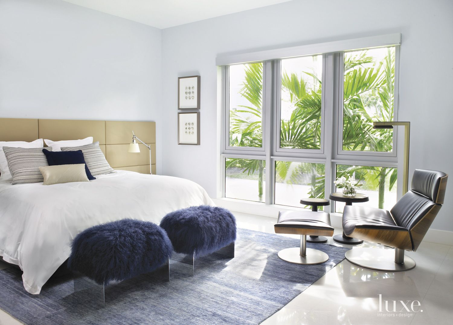 Modern White Master Bedroom