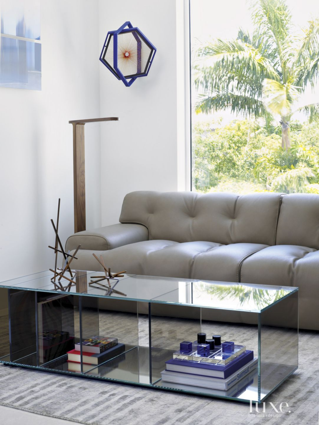 Modern White Office Seating Area