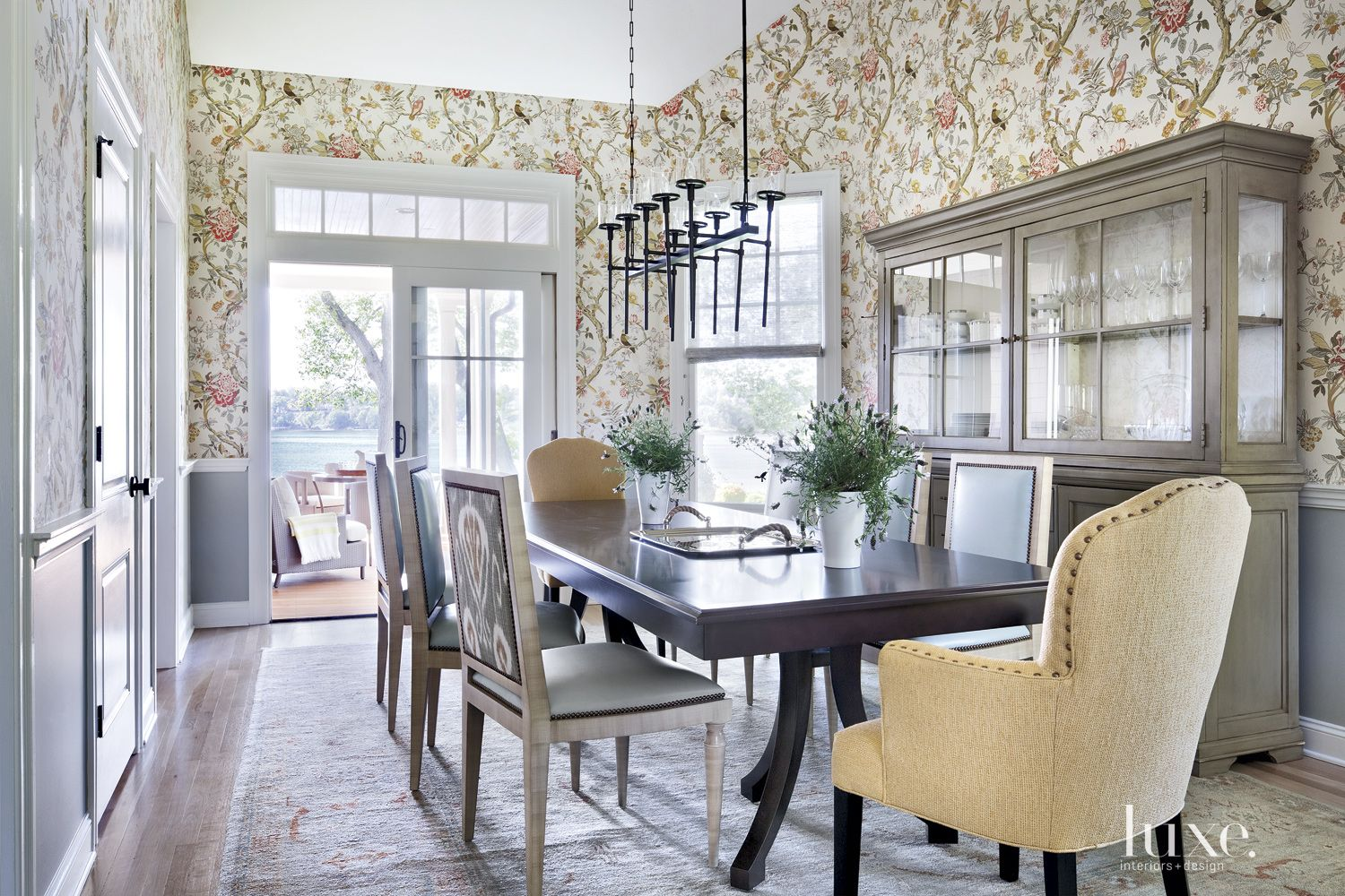 Contemporary Sage Dining Room