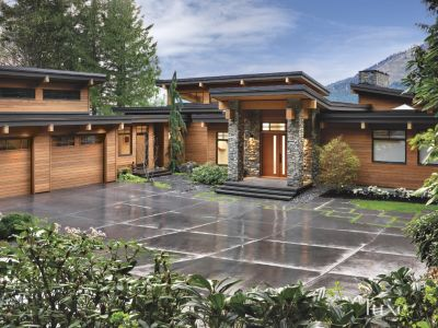 Contemporary West Coast Style Vancouver Island Home
