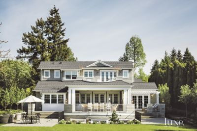 Traditional Shingle Style Rear Exterior Luxesource