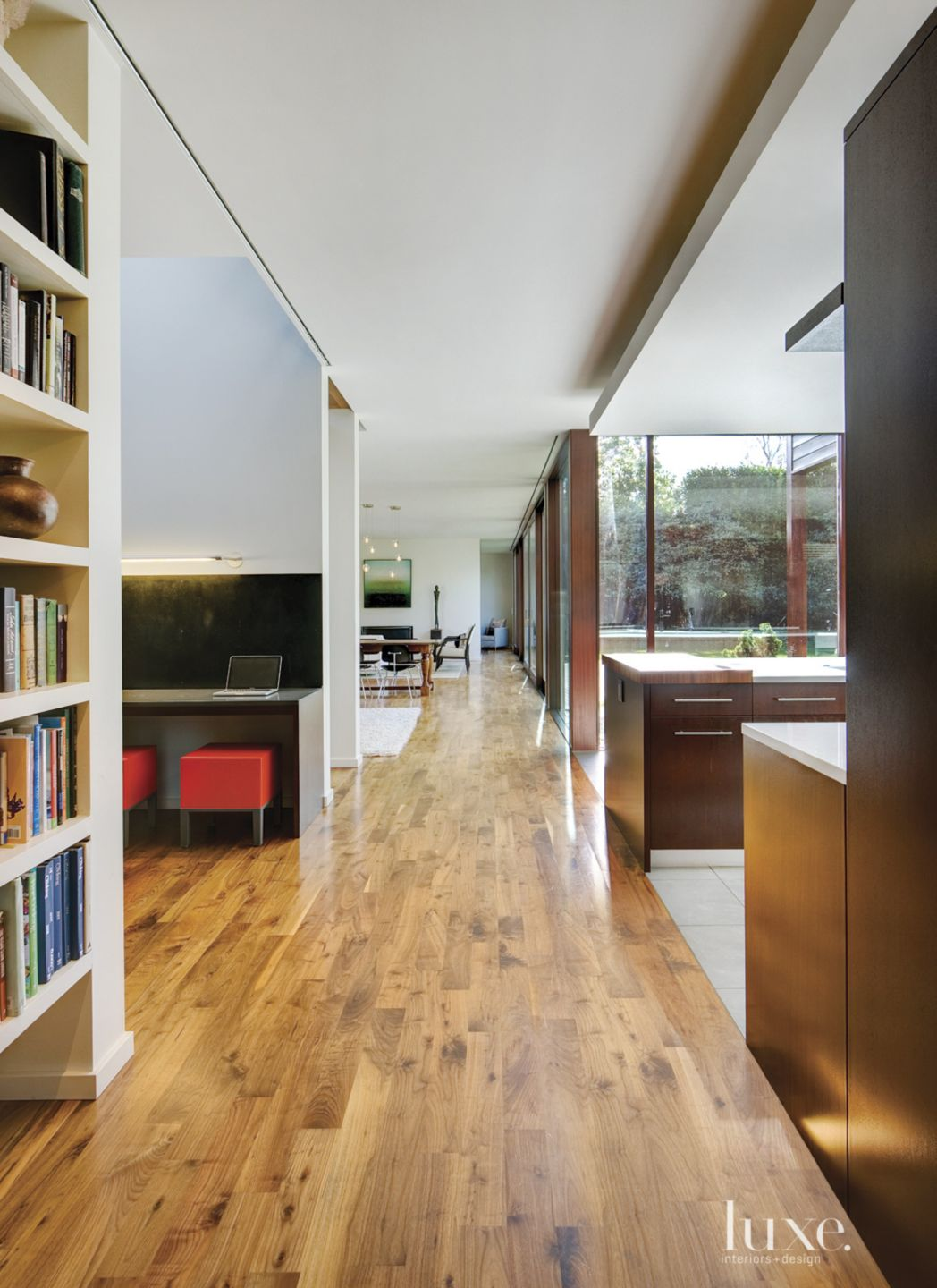 Modern White Hall with Open Plan
