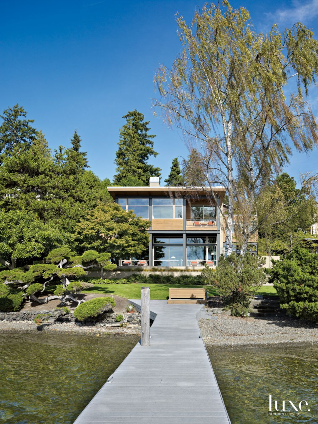Contemporary Neutral Exterior with Lush Landscape