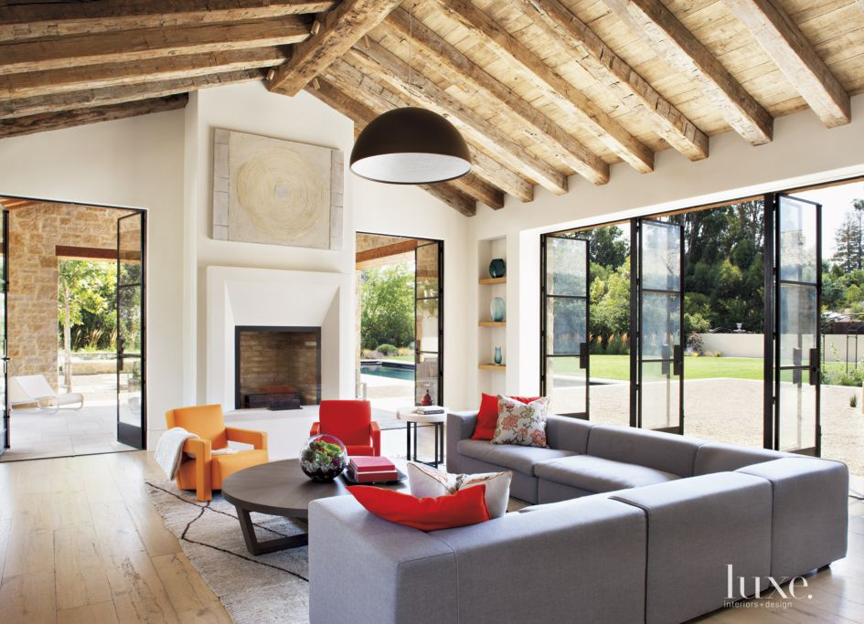 Round Table Los Altos.A Transitional Los Altos Hills Home With French Provincial Roots