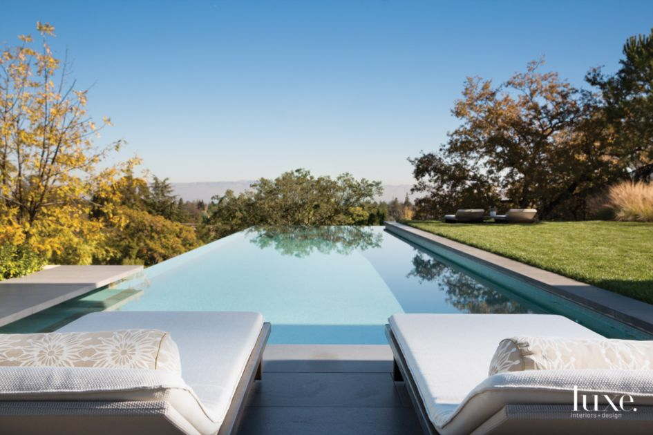Modern Neutral Patio with Infinity-Edge Pool - Luxe ...