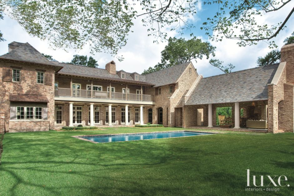 Traditional french country inspired houston ranch home French country architecture residential