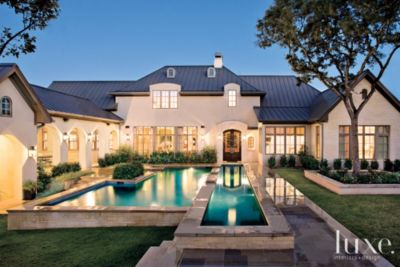 Transitional French Country Style Austin Home