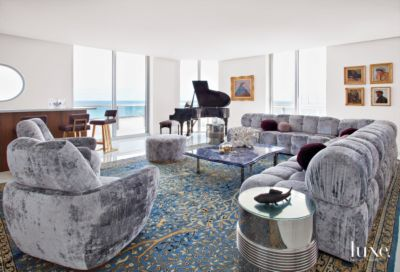 Contemporary, U002770s Influenced Miami Beach Penthouse