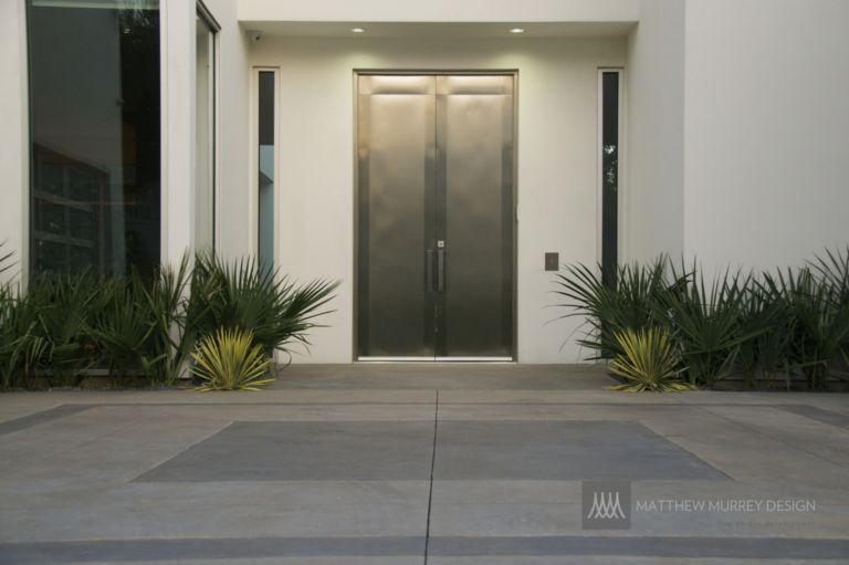 Mmd Contemporary Stainless Steel Front Door Paterned Concrete