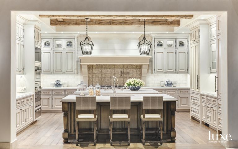 Related Designs - Traditional Rustic Arizona Kitchen With Lantern Lighting And Antique