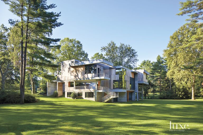 Related Home Tours - A Modernist Concrete-and-Reclaimed-Wood Long Island Home