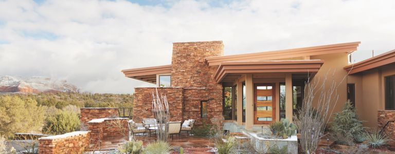 This Sedona Stone Home Possesses Unparalleled Views   Features ...
