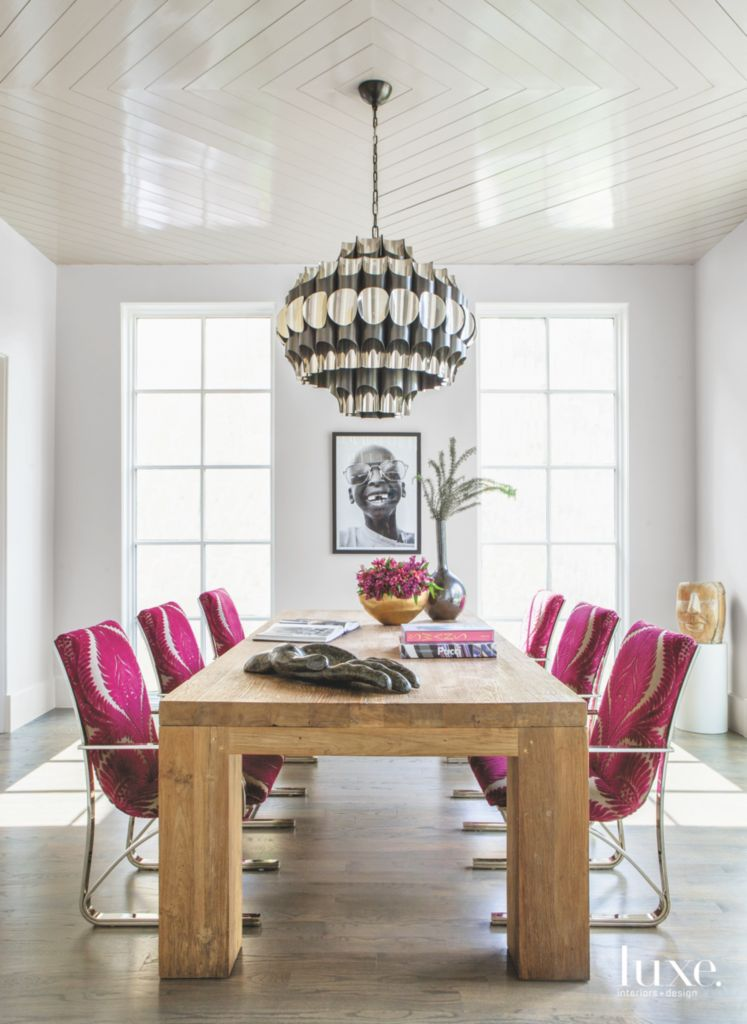 Fuschia dining roomreading room chairs with chandelier and portrait related designs aloadofball Choice Image