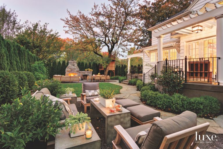 1941 Colonial Portland Revival Home Exterior Garden - Luxe ...