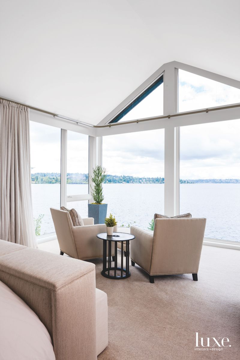 Intimate Seating Group with Lake Views