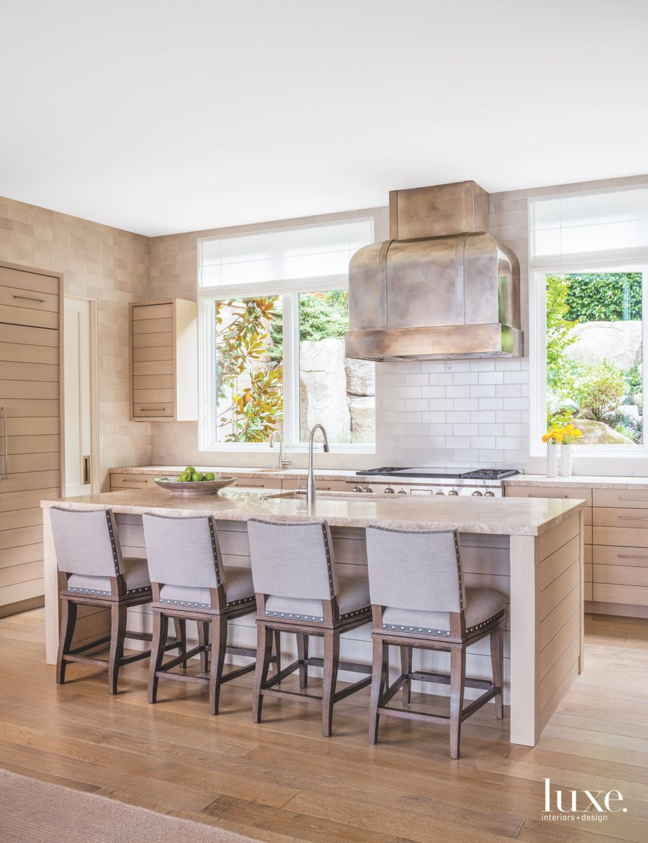 Softened Metal Kitchen with Landscape Views