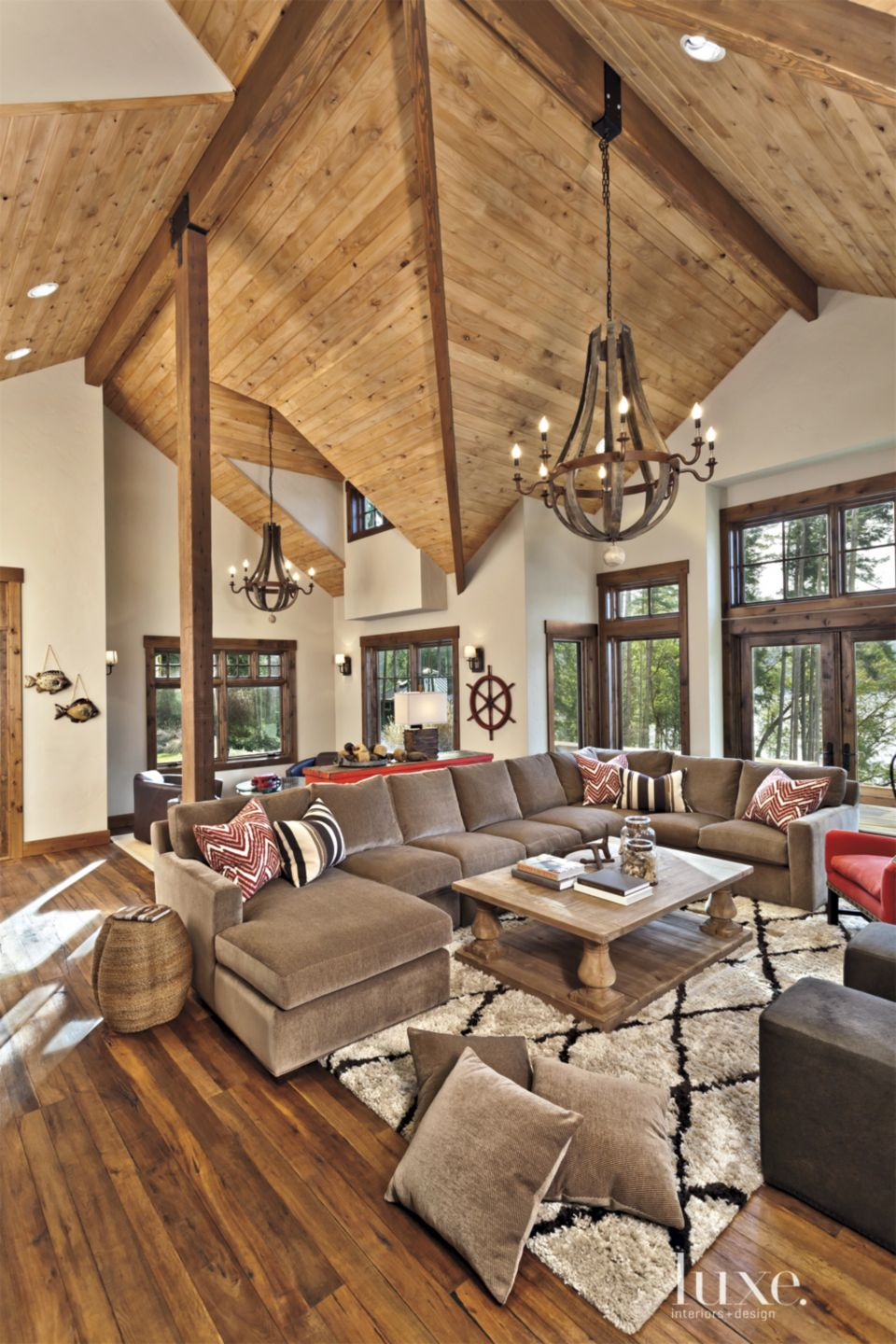 White Mountain Great Room with Vaulted Ceiling