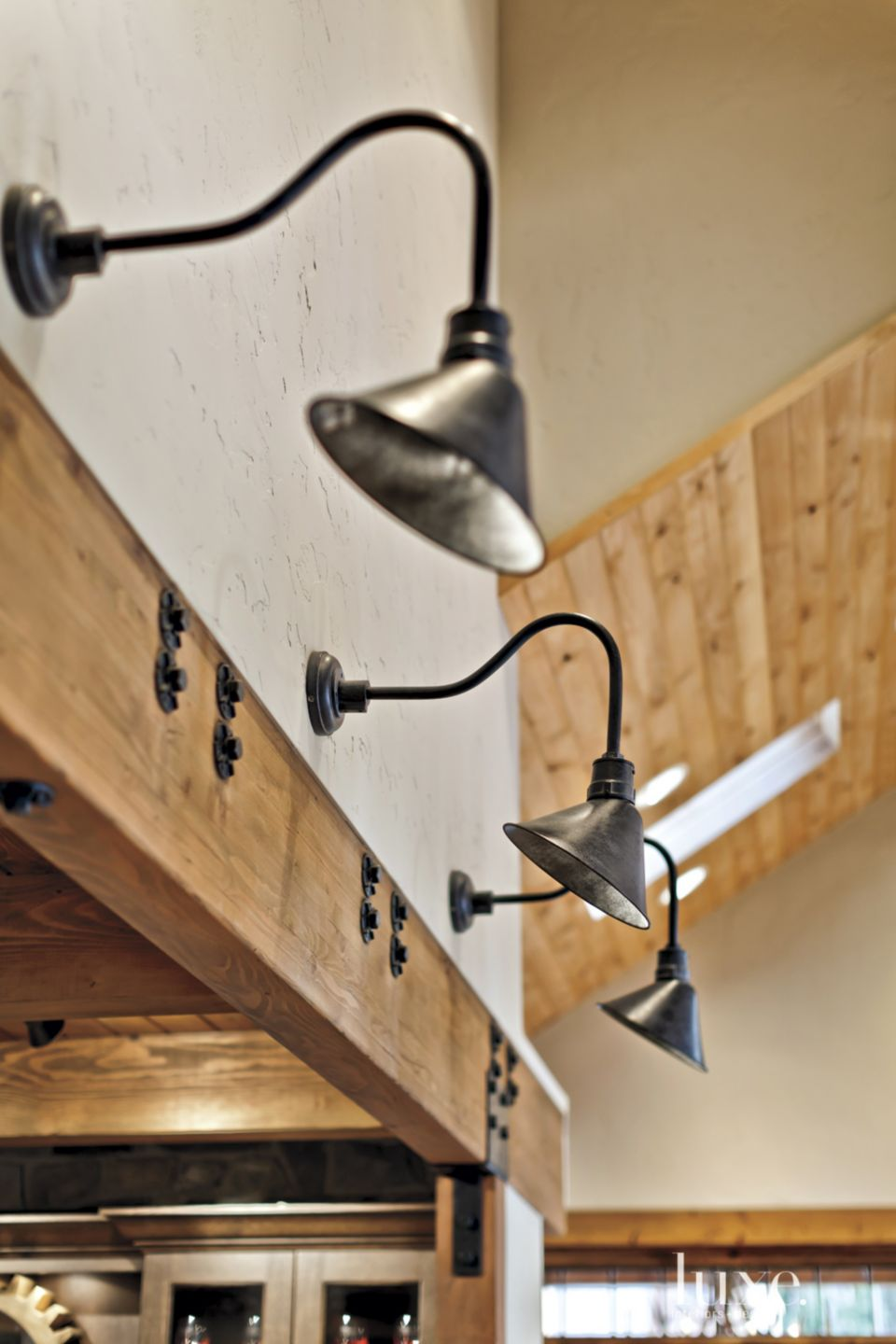 White Mountain Room Detail with Wall Sconces