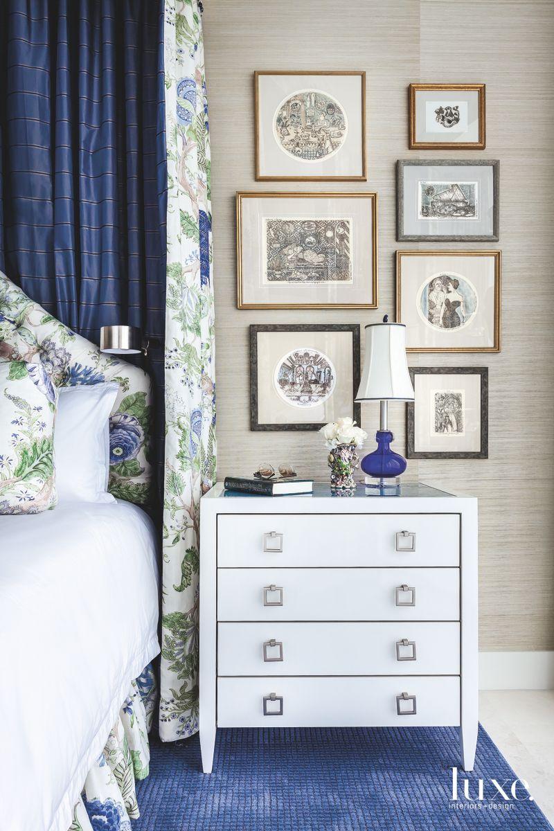 Intaglio Prints in a Miami Master Bedroom