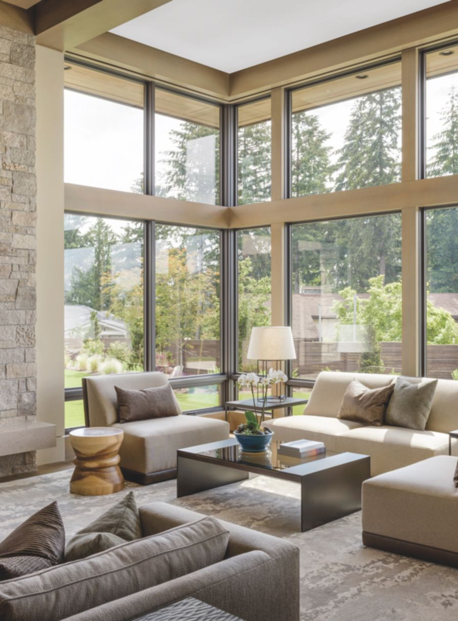 Modern Meets Traditional At This Pacific Northwest Property With Panoramic Views
