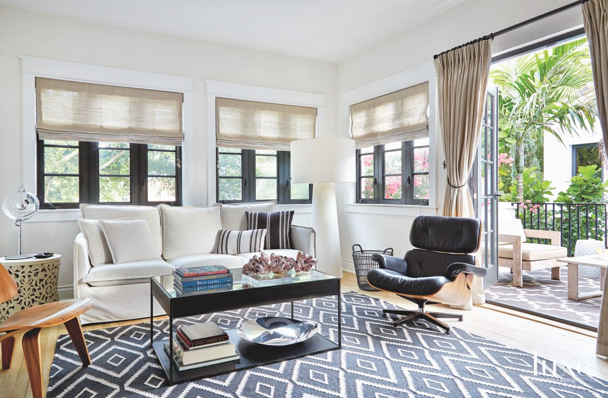 Eames Chair Sitting Room with Patterned Rug