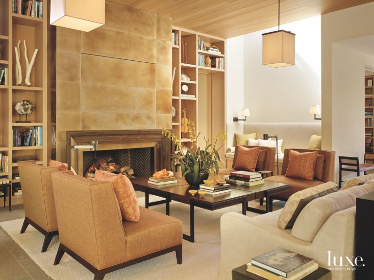 bay area beige gray and gold living room luxe interiors design