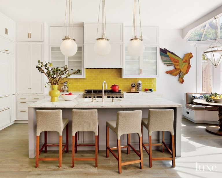 27 Rooms With Sunny Yellow Accents Features Design Insight From The Editors Of Luxe Interiors