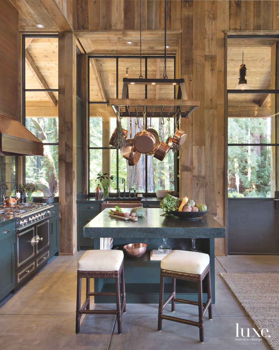 Rustic Kitchen with Modern Appliances