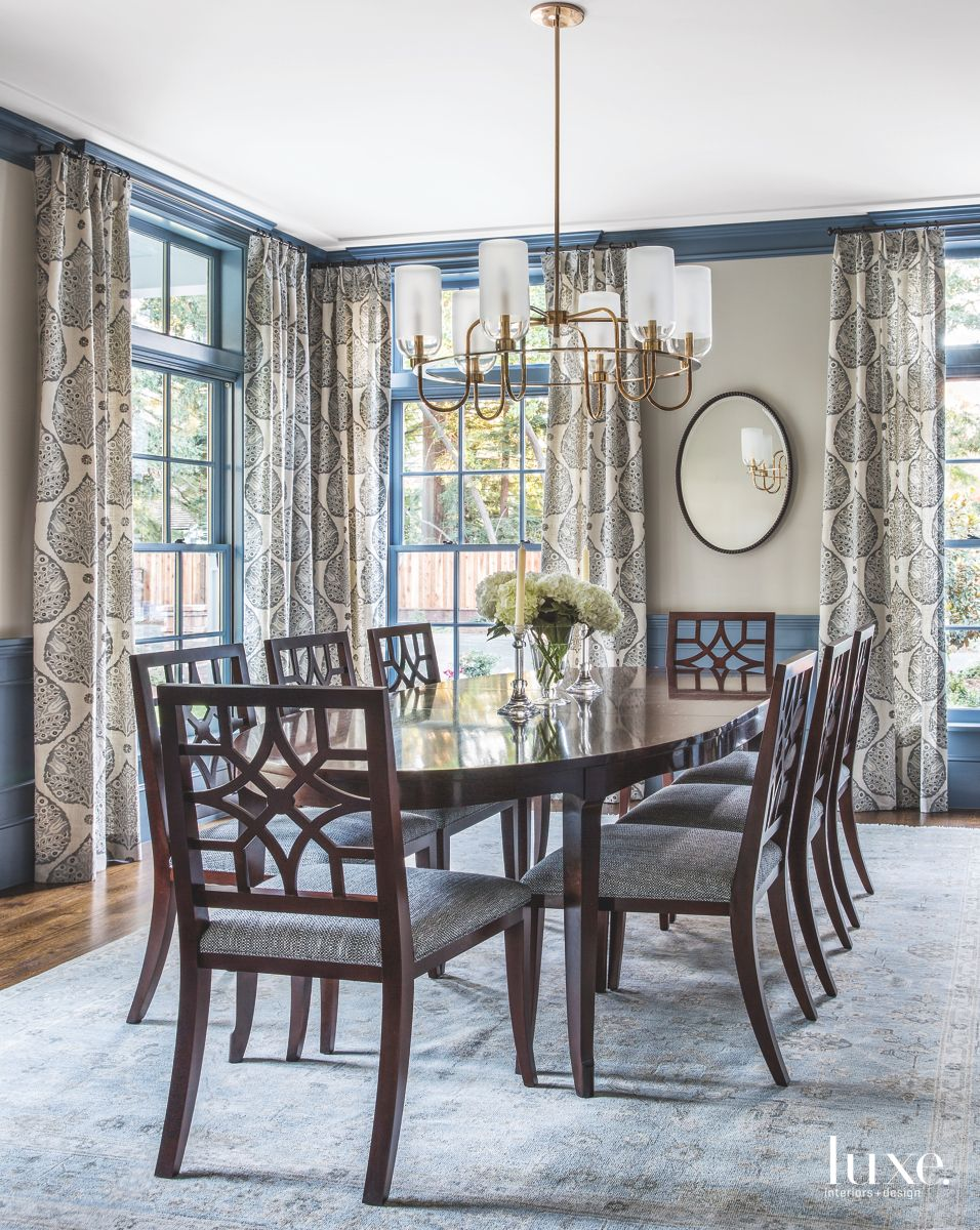 Dining Room Designed Around the Homeowner's Collection