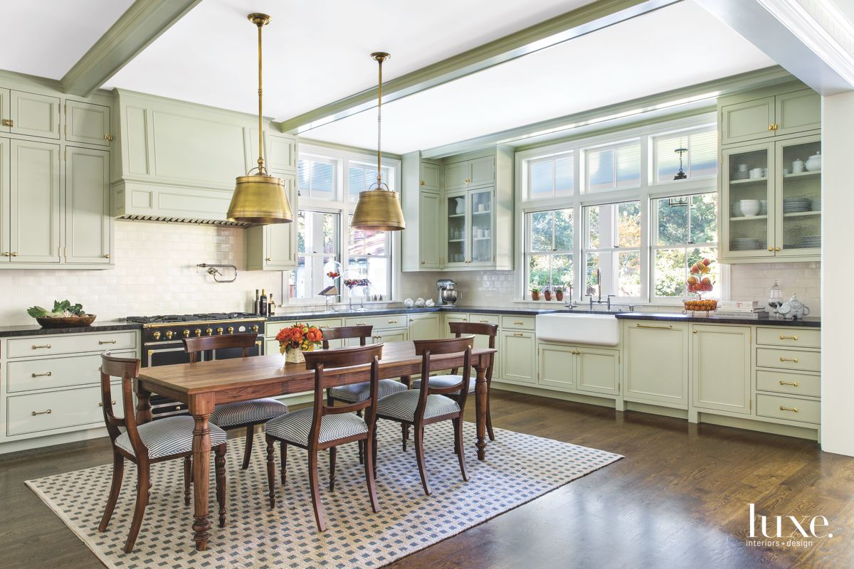 Informal Dining Table in the Light Green Kitchen