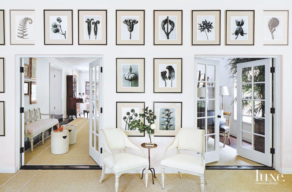 Black and White Photographic Sunroom