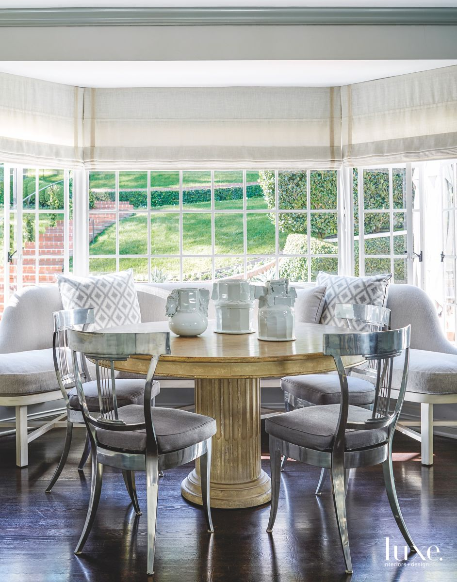 Table Pedestal Breakfast Area with Modern Furniture