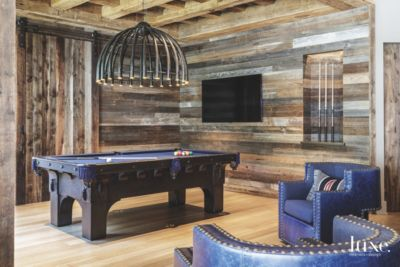 Man Cave Billiard Room : Man cave game room with wooden surround and pool table luxe