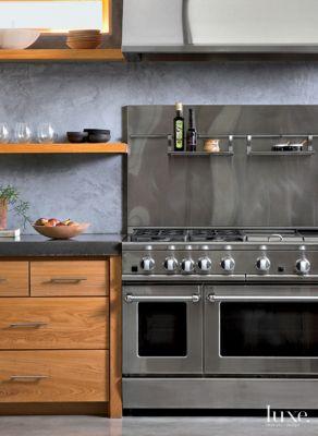 Related Designs & Modern Douglas Fir Kitchen Shelves - Luxe Interiors + Design