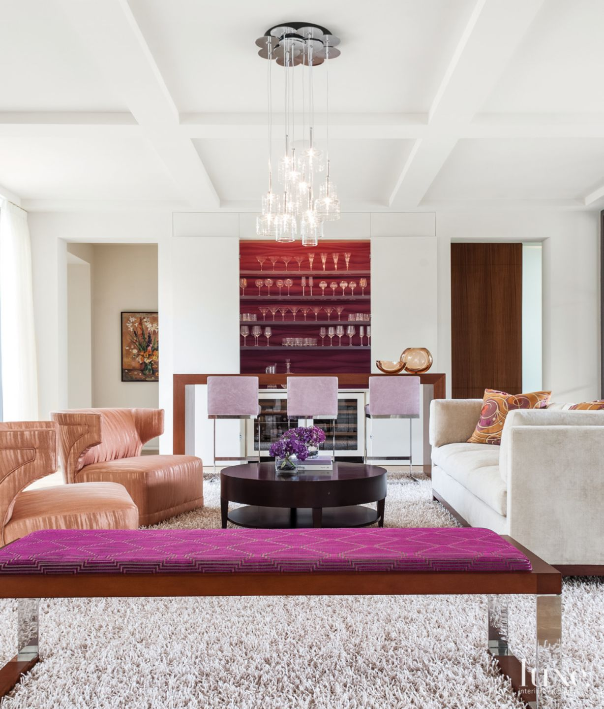 Aubergine and Persimmon Living Room