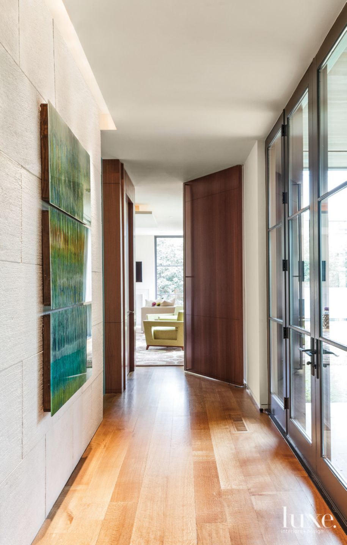 Modern Hallway to Master Bedroom