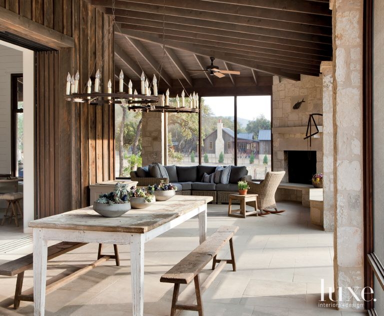 Neutral Transitional Indoor Outdoor Living Area Luource Luxe Magazine The Luxury Home Redefined