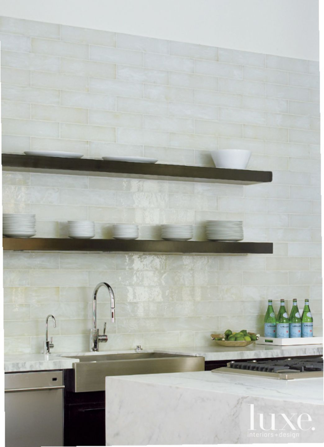 Neutral Modern Kitchen with Open Shelving