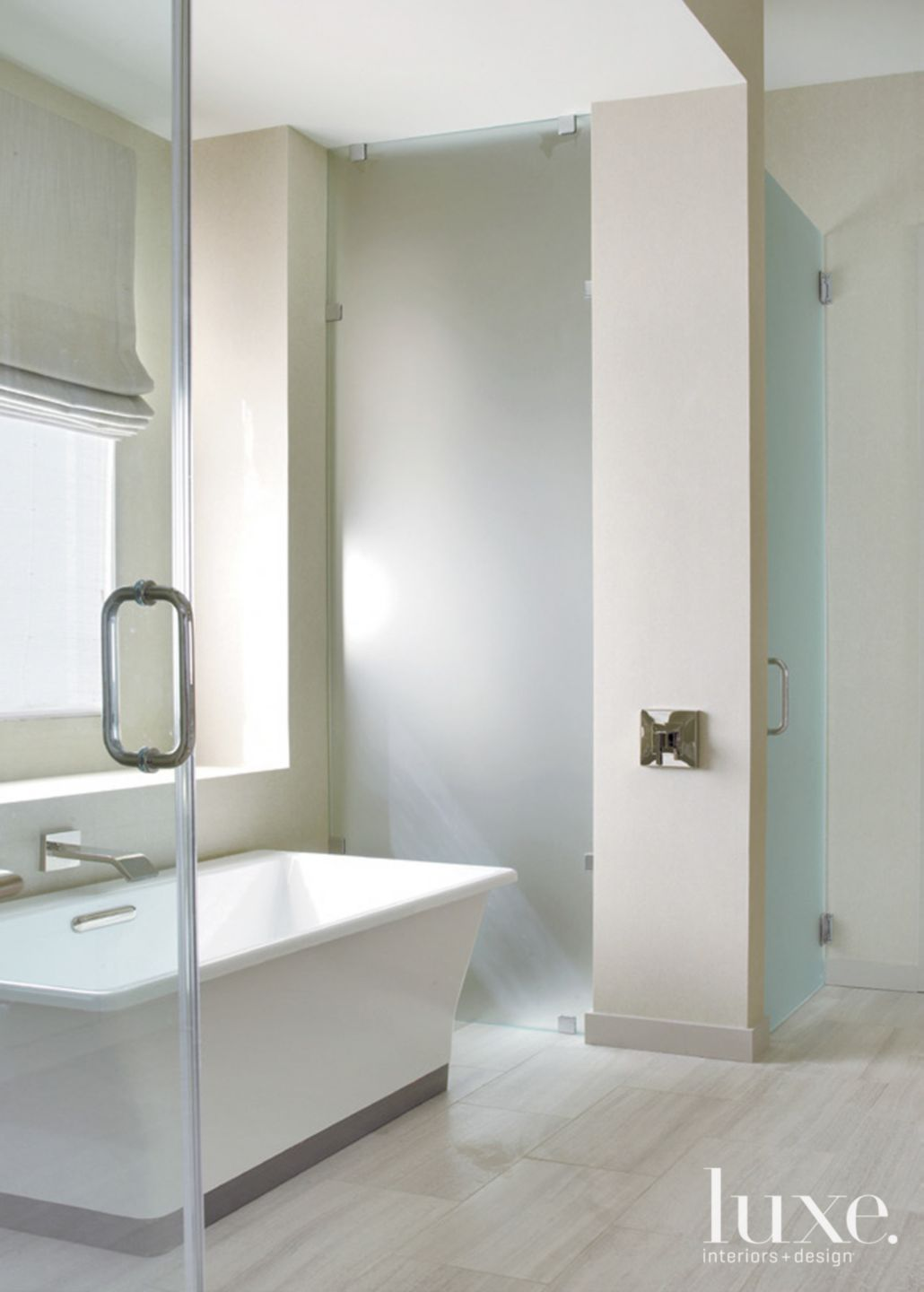 Neutral Modern Master Bathroom