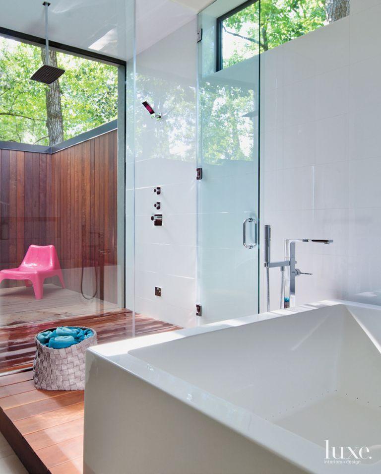 Modern Indoor Outdoor Master Bath