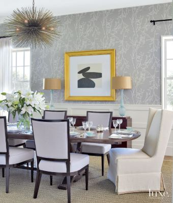 Related Designs Transitional Formal Dining Room with