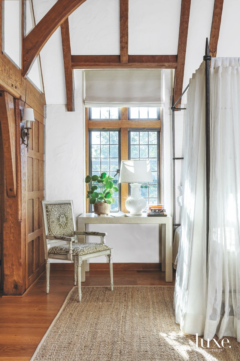 Chic White Powder Room