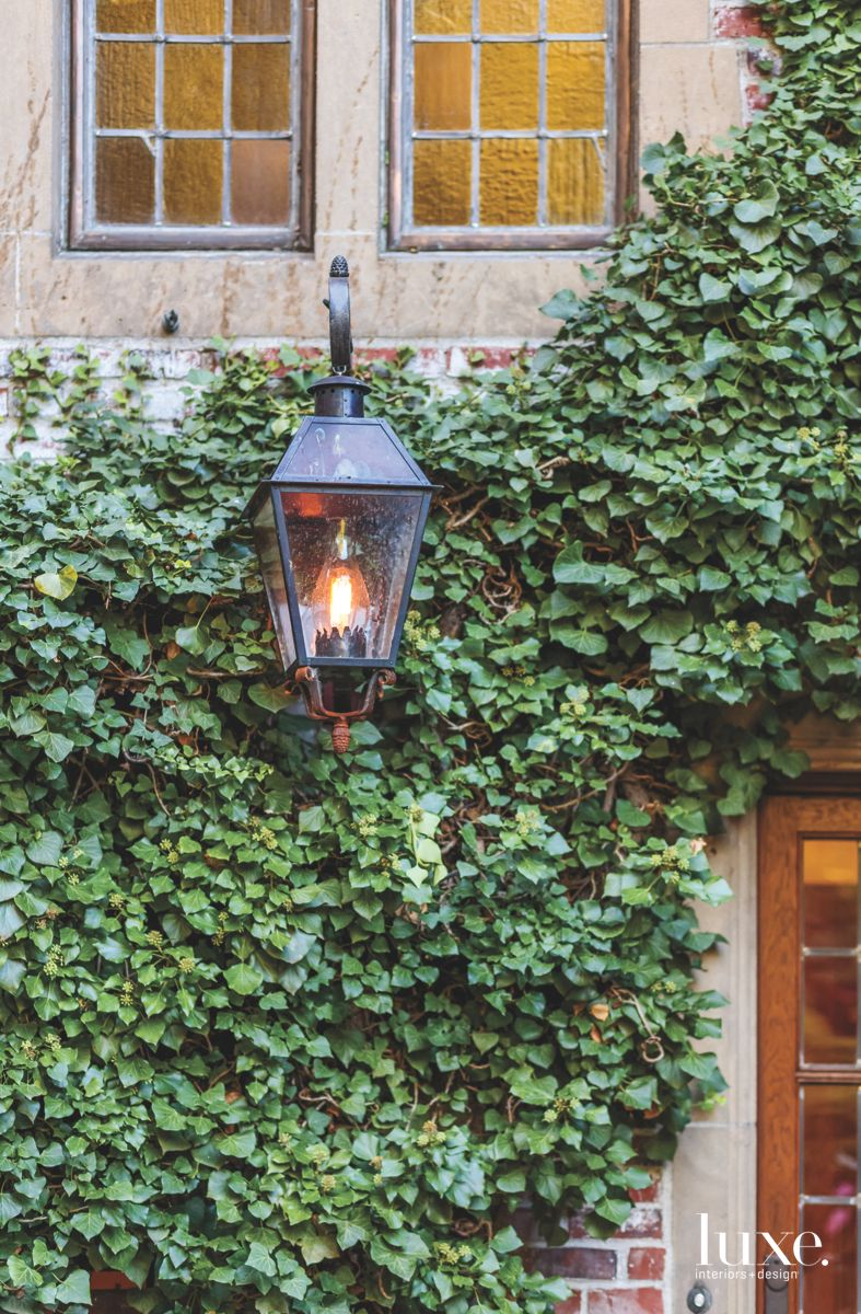 Charming Details with Ivy and Outdoor Lantern
