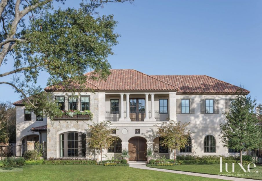 Florentine Style Home With Clay Tile Roof Luxe Interiors