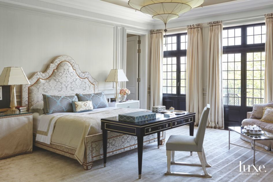 Upholstered Headboard Master Bedroom with Whimsical ...