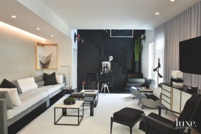 This South Beach Apartment Is Black And White And Red All Over