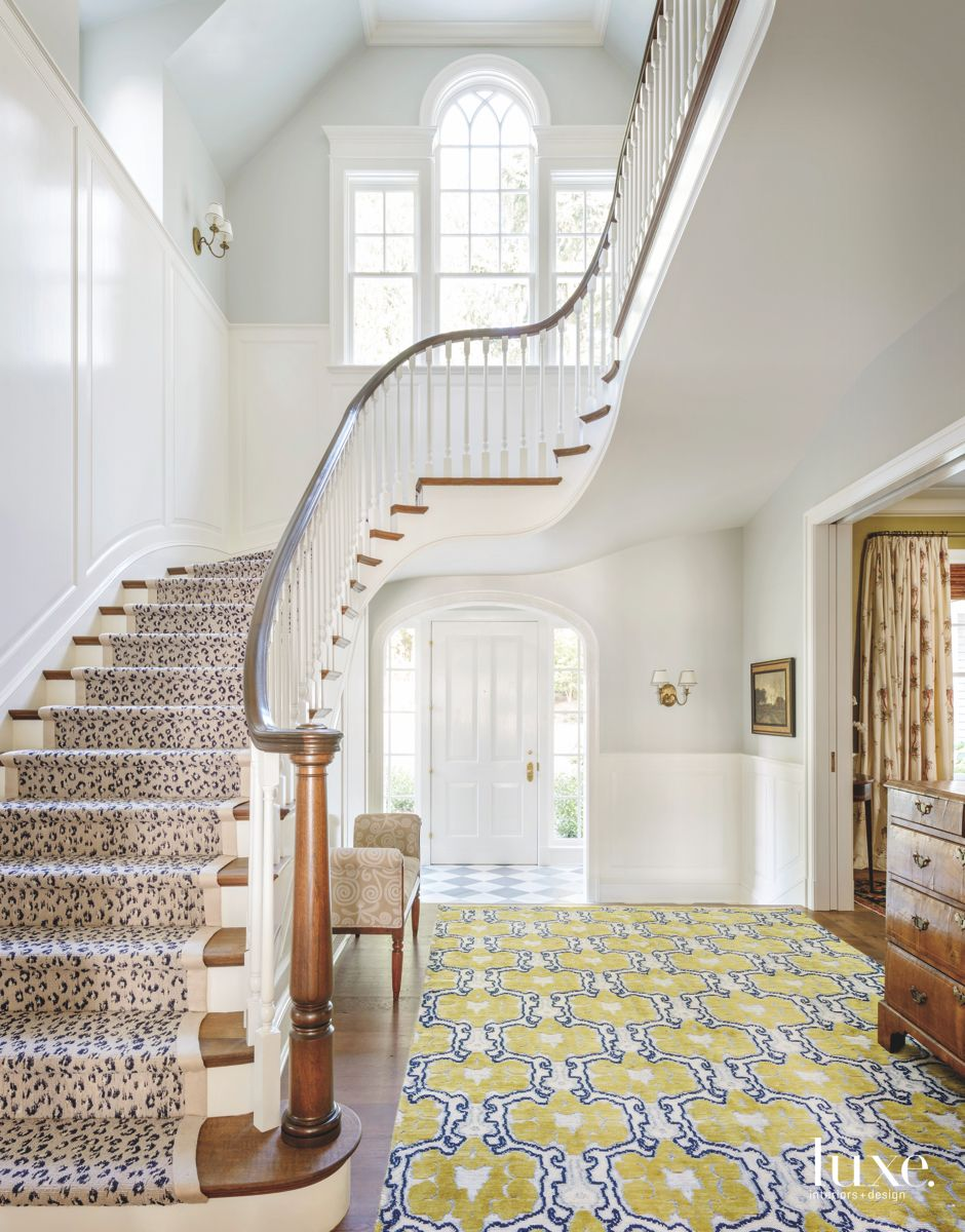 Multi-Patterned Staircase Foyer