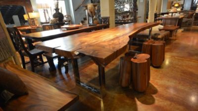 Wood Slab Table, Texas Tuscan Furniture | LuxeSource | Luxe Magazine    The Luxury Home Redefined